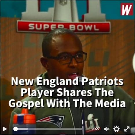 Patriots Player Shares Gospel