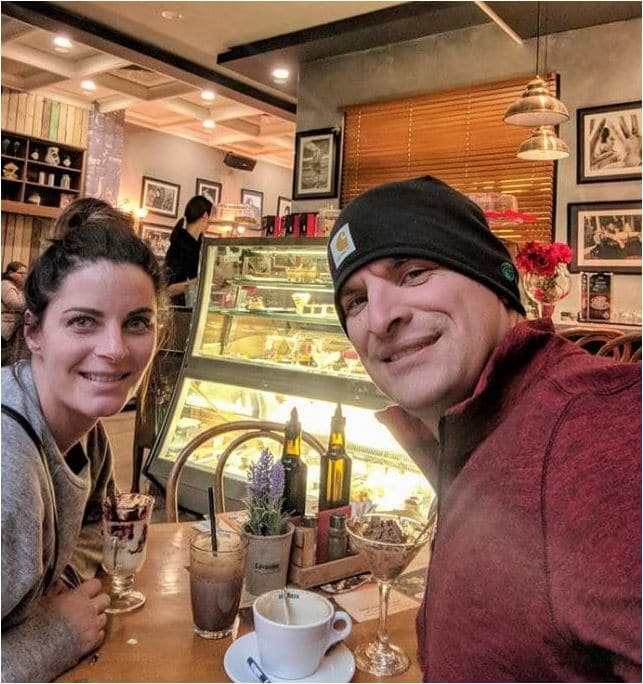 Adoptive parents experience a Bulgarian coffee shop.