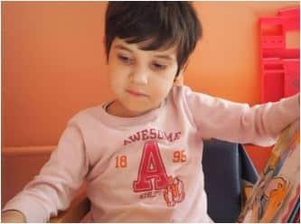 Bulgarian child waiting on adoption.
