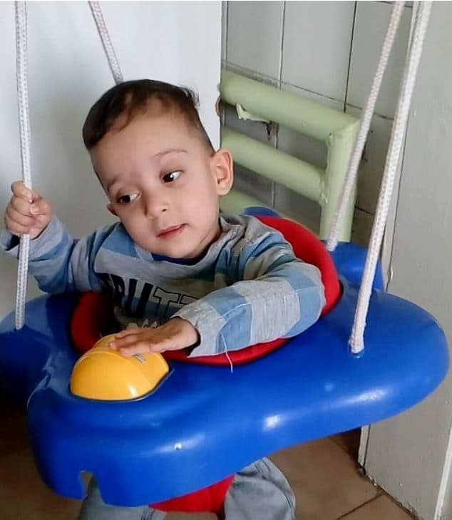 Bulgarian toddler hoping for parents.