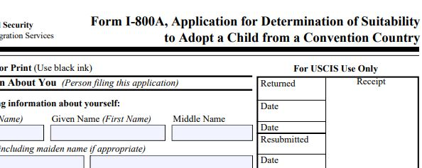 USCIS Approval to adopt a child.
