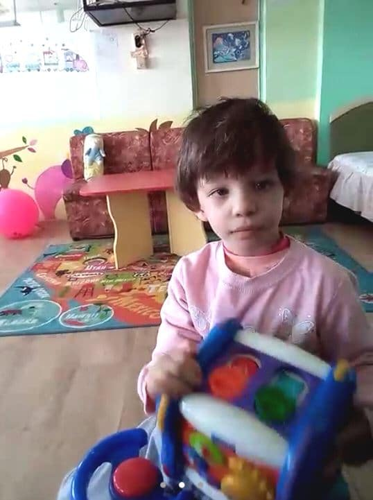 Child being adopted from Bulgaria