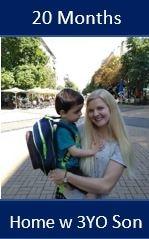 Adoptive mom holding her son!